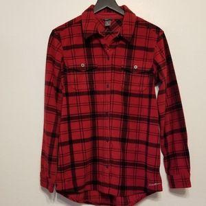 Eddie Bauer Chutes fleece shirt/ jacket in Scarlet